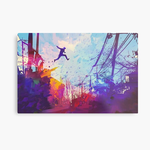 Modern Parkour Free Running Urban Obstacle Course Metal Print