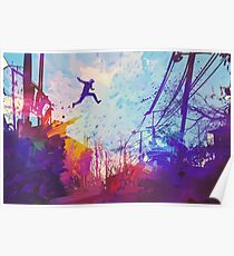 Parkour Urban Obstacle Course Poster
