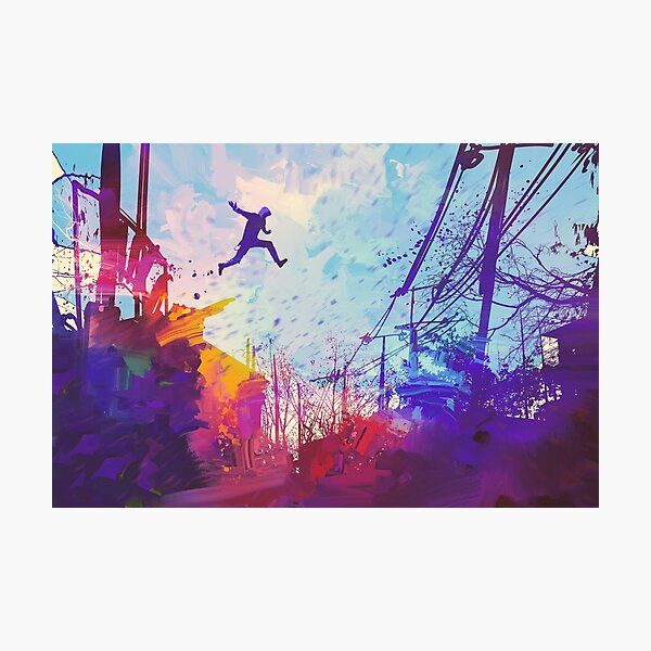 Modern Parkour Free Running Urban Obstacle Course Photographic Print