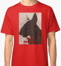"""Bull Terrier"" Red Classic T-Shirt"