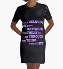 Let's Go Crazy Graphic T-Shirt Dress