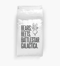 Bears Beets Battlestar Galactica Duvet Cover