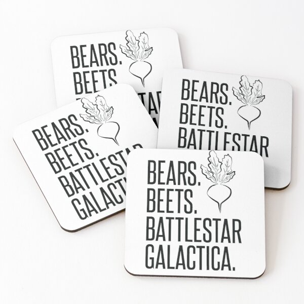 Bears Beets Battlestar Galactica Coasters (Set of 4)