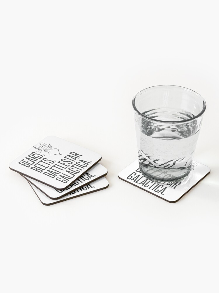 Alternate view of Bears Beets Battlestar Galactica Coasters (Set of 4)