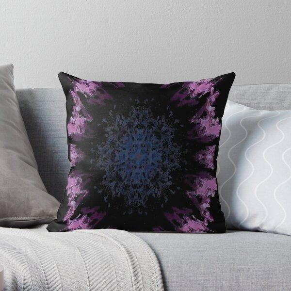 Inkblot - African Daisy Throw Pillow