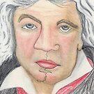Ludwig van Beethoven by Deborah McGrath