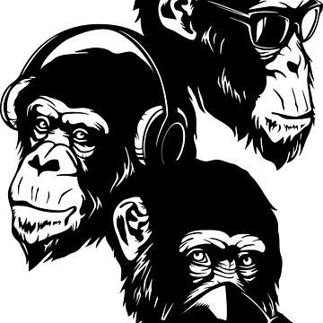 Three Monkeys by TurkeysDesign