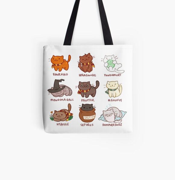 Hairy Pawtter All Over Print Tote Bag
