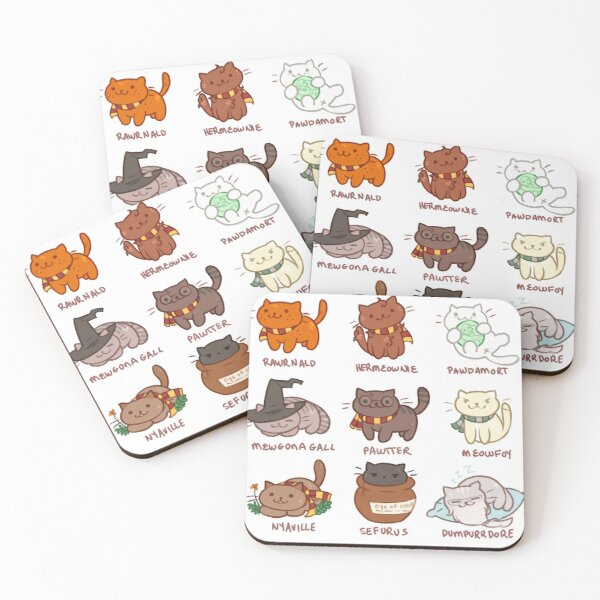 Hairy Pawtter Coasters (Set of 4)