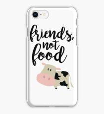 Friends Not Food - Vegan  iPhone Case/Skin