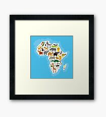 Animal Africa Continent Framed Print