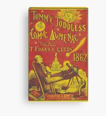 Old Book Covers: Tommy Toddles Almanac  Canvas Print