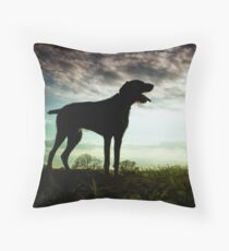 German Wirehaired Pointer Dog Throw Pillow