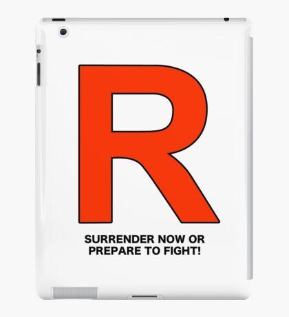 Team Rocket (Surrender Now or Prepare to Fight!) iPad Case/Skin