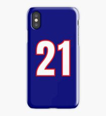 White Number 21 (1-99) iPhone Case/Skin