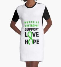 Love Hope Support Muscular Dystrophy Awareness  Graphic T-Shirt Dress