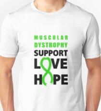 a9ebaa53 Love Hope Support Muscular Dystrophy Awareness Unisex T-Shirt