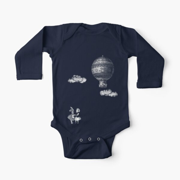 Up Up and Away Long Sleeve Baby One-Piece