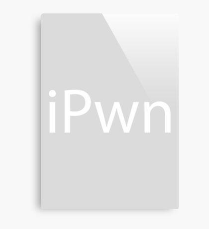 iPwn (Grey) Canvas Print