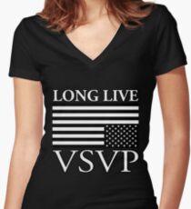 Long Live ASAP Rocky Women's Fitted V-Neck T-Shirt