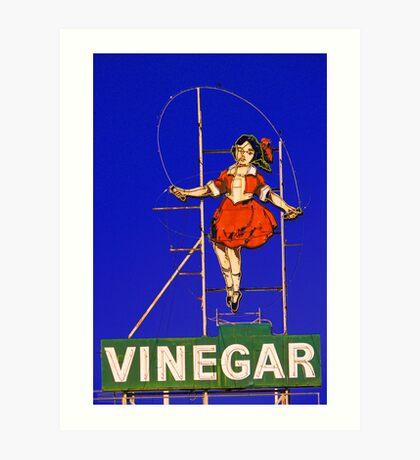 skipping girl viniger Art Print