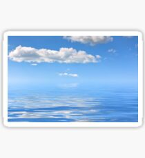 Water background with reflections of bright sky Sticker