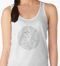Hand drawn Christmas decoration Women's Tank Top