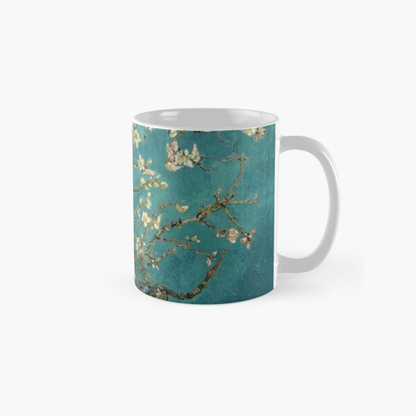 Blossoming Almond Tree, famous post  impressionism fine art oil painting by Vincent van Gogh.  Classic Mug