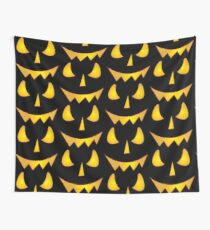 Jack-O-Laughing! Evil Pumpkin Face Wall Tapestry