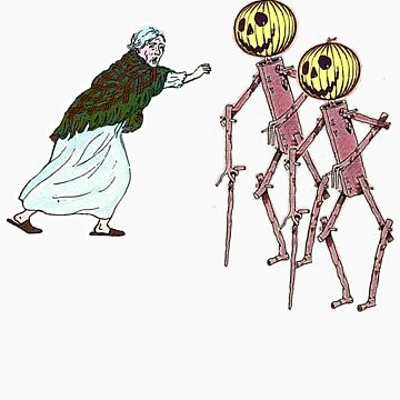 Scarecrows scare the hell out of granny by gili