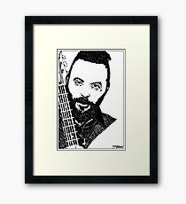 Justin Furstenfeld-Blue October Sharpie Drawing Framed Print