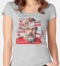 The Real of S.Zizek Women's Fitted Scoop T-Shirt