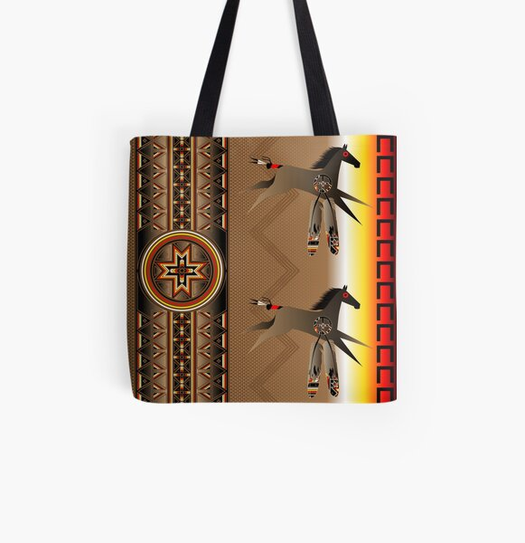 War Horse All Over Print Tote Bag