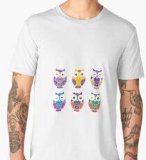 Colourful owls Men's Premium T-Shirt