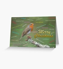 Merry christmas card in different languages Greeting Card