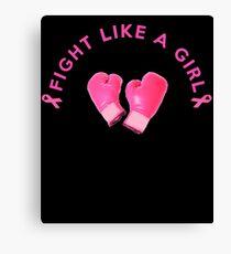Breast cancer fight design Canvas Print