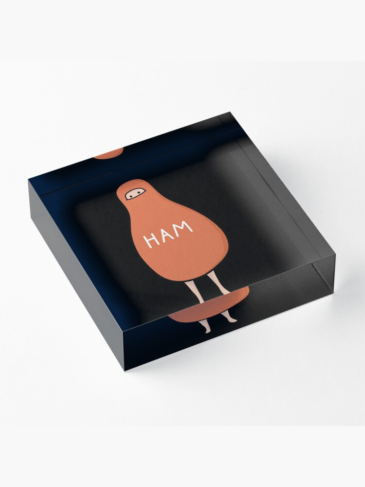 Alternate view of Ham : To Kill A Mockingbird Literally Scout Ham Halloween Costume Acrylic Block