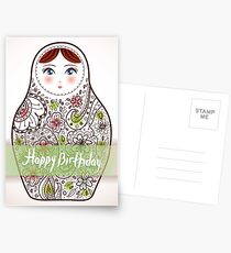 Happy birthday card matrioshka  Postcards