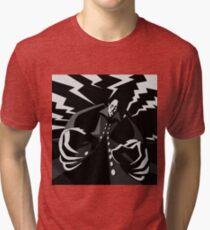 evil vintage vampire Tri-blend T-Shirt