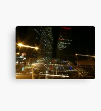 Impressions from a nonstop city Canvas Print