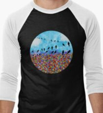 Colorful Watercolor Flower Field T-Shirt