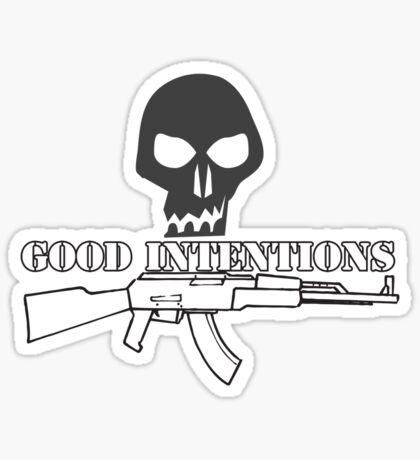Good Intentions Sticker