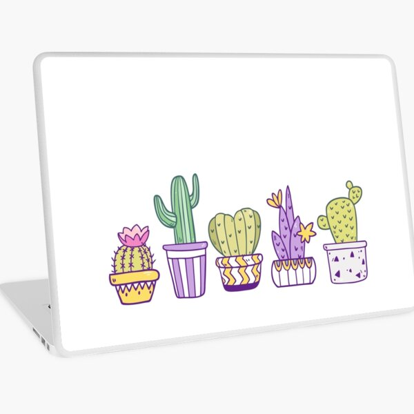 Cute Cactuses Laptop Skin
