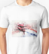 Red Arrows Synchro Pair - Painting T-Shirt