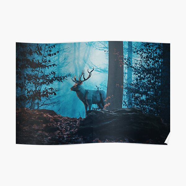 Blue Forest Poster