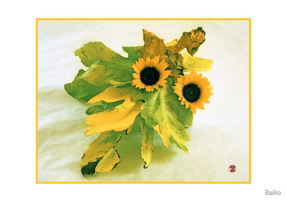 Ikebana-009 Greeting Card  by Baiko