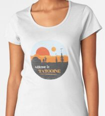 d67cd3d3 Welcome to Tatooine Premium Scoop T-Shirt