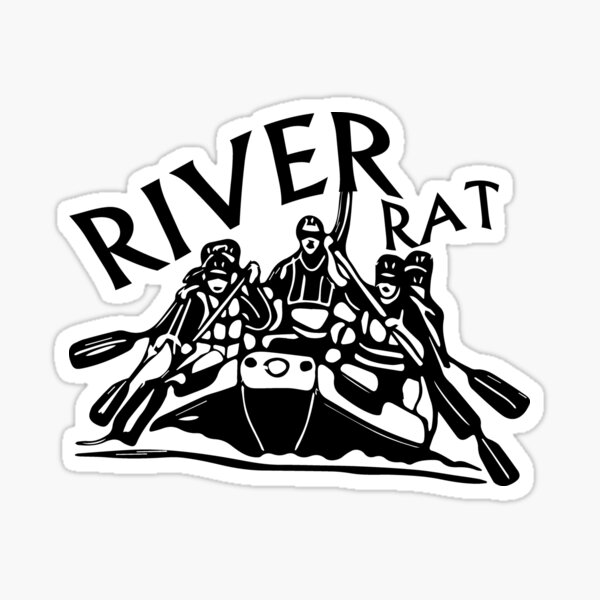 Whitewater Rafting Gift River Rat Sticker