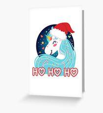 Ho Ho Ho Christmas Unicorn Greeting Card