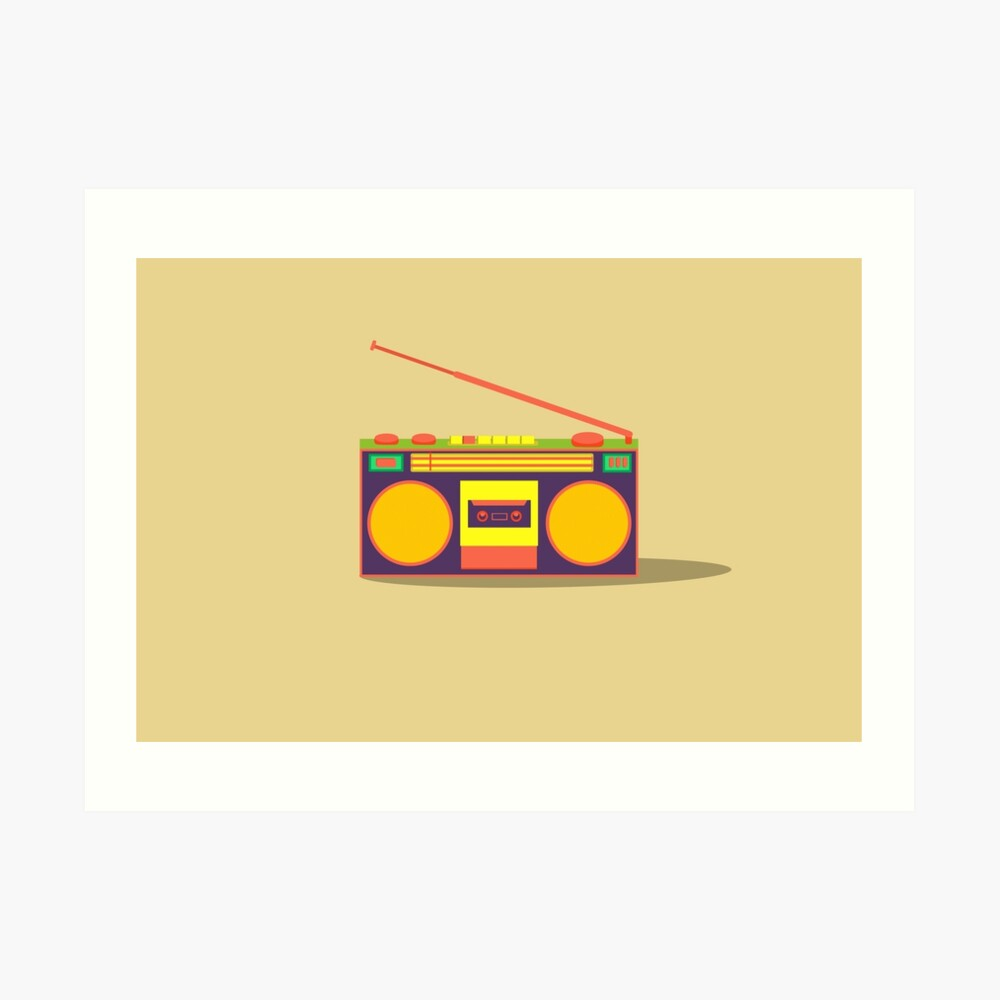 boombox - old cassette - Devices Art Print